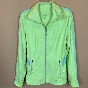Tangerine zipped athletic thumbhole jacket